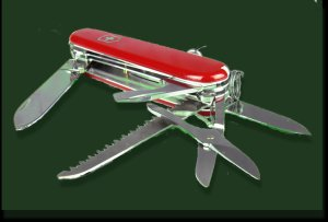 Edited Public Domain Swiss Army knife photo- Original image credit: Petr Kratochvil