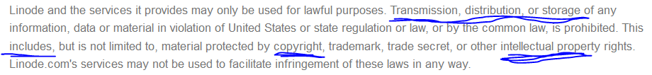 linode terms fair use